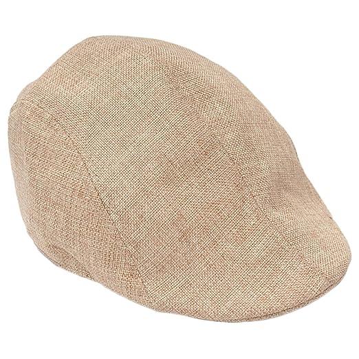 1acdcd4c3f Shineweb Men's Herringbone Flax Newsboy Ivy Cabbie Driving Hat