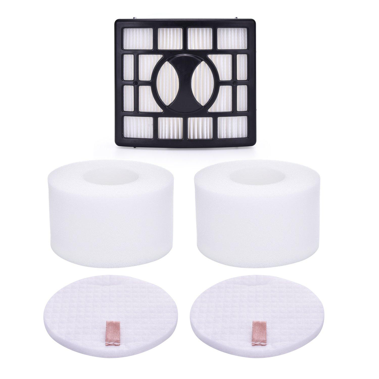 Smartide kit for Shark Rotator Pro Lift-away NV680, NV800, NV800W, NV801, NV803, UV810 Hepa Filter & Foam Filter (Containing 2 Foam Filter and 1 Hepa Filter), Compare to Part # XHF680 & XFF680