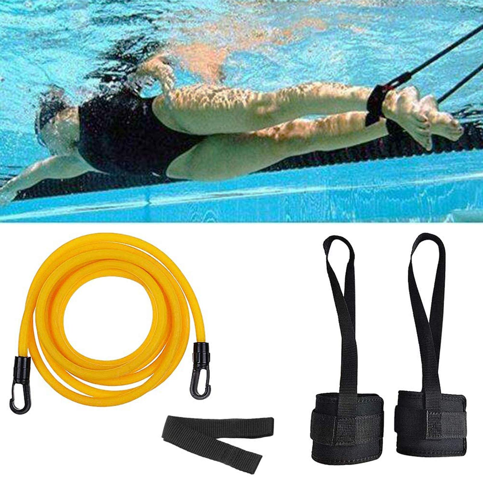 KIKIGOAL Swim Ankle Strap Stationary Swimmer Swim Lap Swim Training Leash