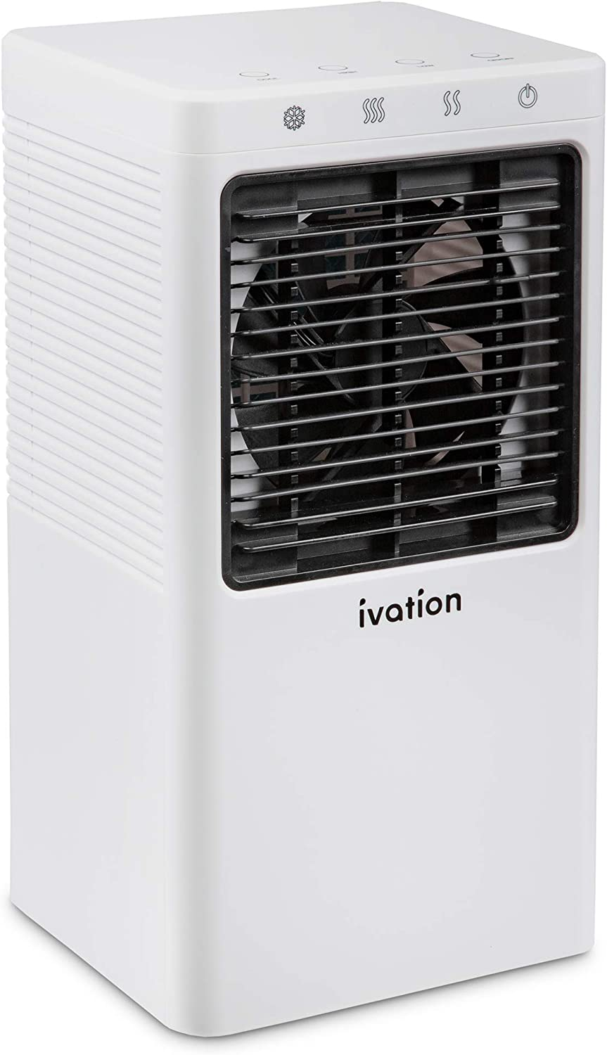Ivation Personal Mini Air Cooler, Portable USB-Powered Desktop Evaporative Swamp Cooler Fan Humidifier with 2-Speed Fan, 5-Hour Cooling for Home, Office Desktop or Car Up to 21 Sq/Ft