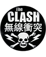 The Clash Kanji with Skull & Crossbones Logo Button / Pin