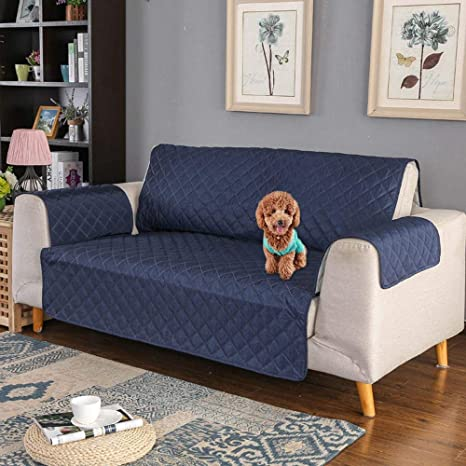 KOBWA Funda Cubre Sofá Práctica, Funda sofá Impermeable Anti-Sucio para Mascotas Protector de Sofá Muebles Protector Sofá Acolchado Anti-Sucio ...