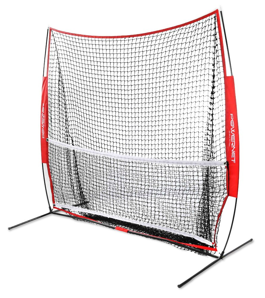 PowerNet 7x7 ft Portable Tennis Net and Pickleball Trainer (Multi Sport)