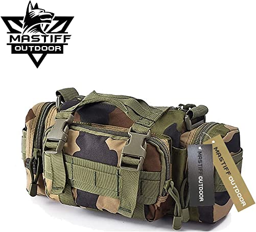 Mastiff Outdoor Camerabag Tactical MOLLE Military Sling Fanny Waist Pack WD