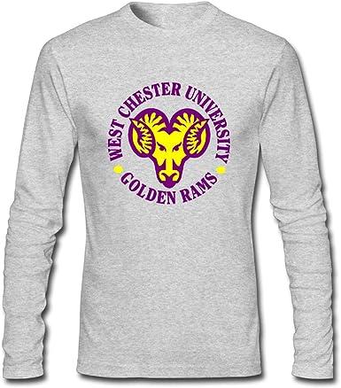 PPWCU07 Mens//Womens Boyfriend Long Sleeve Tee Official NCAA West Chester University Golden Rams