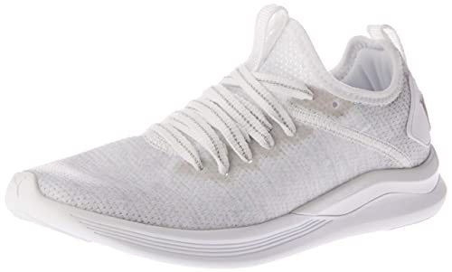 Puma Women s Ignite Flash Evoknit Ep Wn S White and Gray Violet Running  Shoes-3.5 8865eeaed