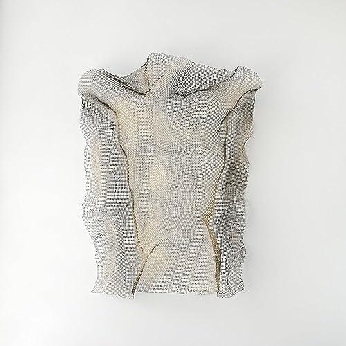 Amazon.com: Nude man torso sculpture, Metal wall art, wire mesh ...