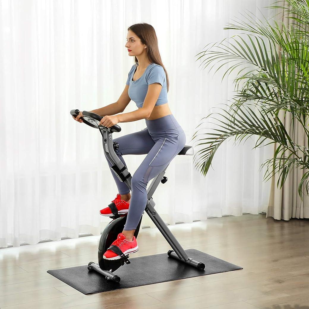 SONGMICS Bicicleta Estática Plegable Entrenador Indoor, 100 kg Máx.