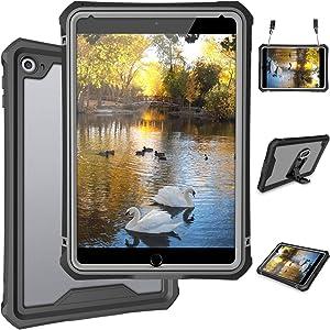 iPad Mini 5 Case - Waterproof Case for iPad Mini 5 Full Body Bumper Case with Built in Screen Protector Drop Proof Anti Scratch Anti Shock Clear Case Cover for iPad Mini 5 7.9