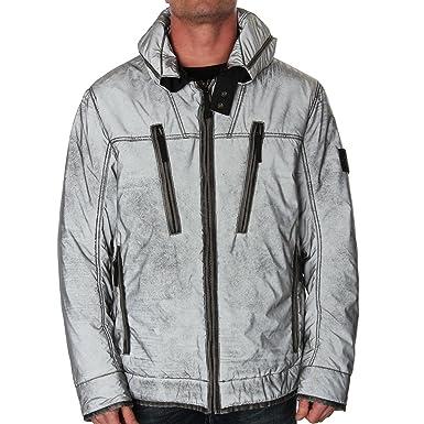 97c0d3f55f6 Stone Island 45644 Liquid Reflective Jacket Silver XXX Large: Amazon ...