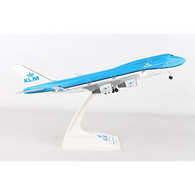 SKYMARKS KLM 747-400 1/200 W/Gear SKR940: Toys & Games