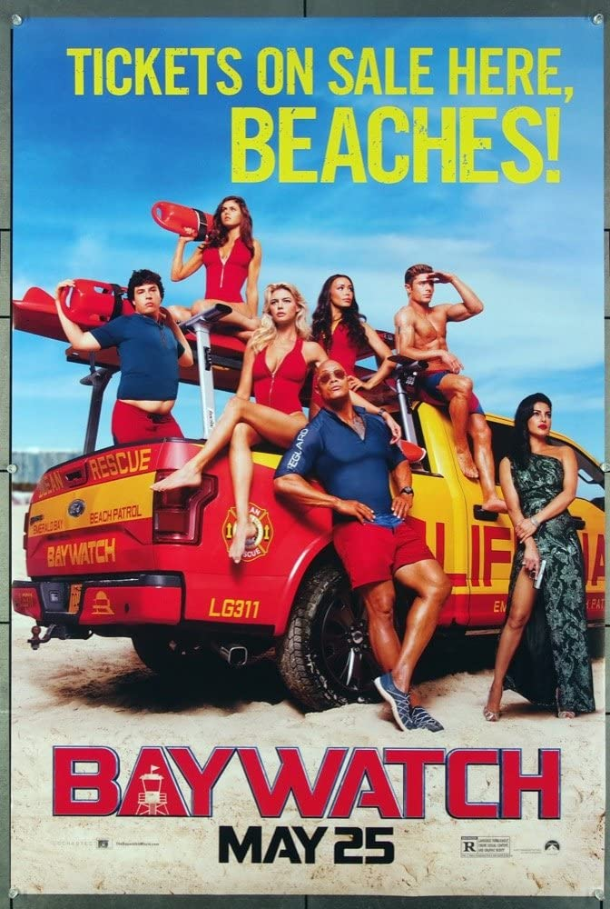Baywatch 2017 Original Movie One Sheet Poster 27x40 Directed By Seth Gordon Dwayne Johnson Zac Efron Priyanka Chopra At Amazon S Entertainment Collectibles Store