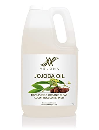 Amazon.com : Jojoba Oil by Velona - 7 lb | 100% Pure and Natural Carrier Oil  | Clear, Refined, Cold Pressed | Moisturizing Face, Hair, Body and Skin  Care | Use Today - Enjoy Results : Beauty