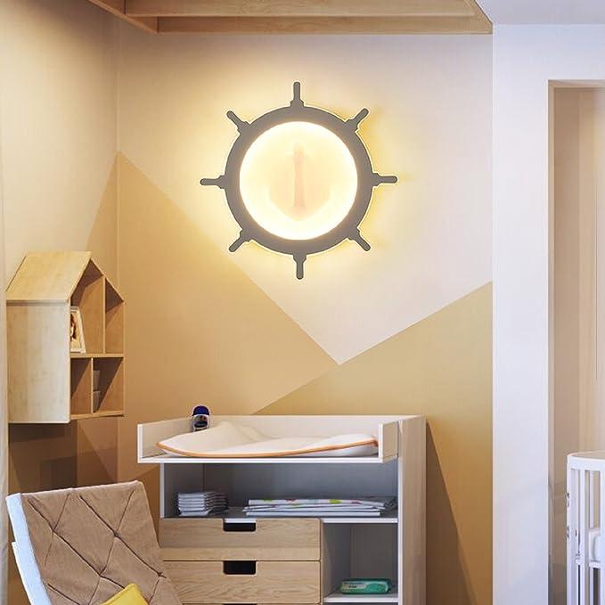 Amazon.com: JUIANG Lámpara de pared LED redonda para ...