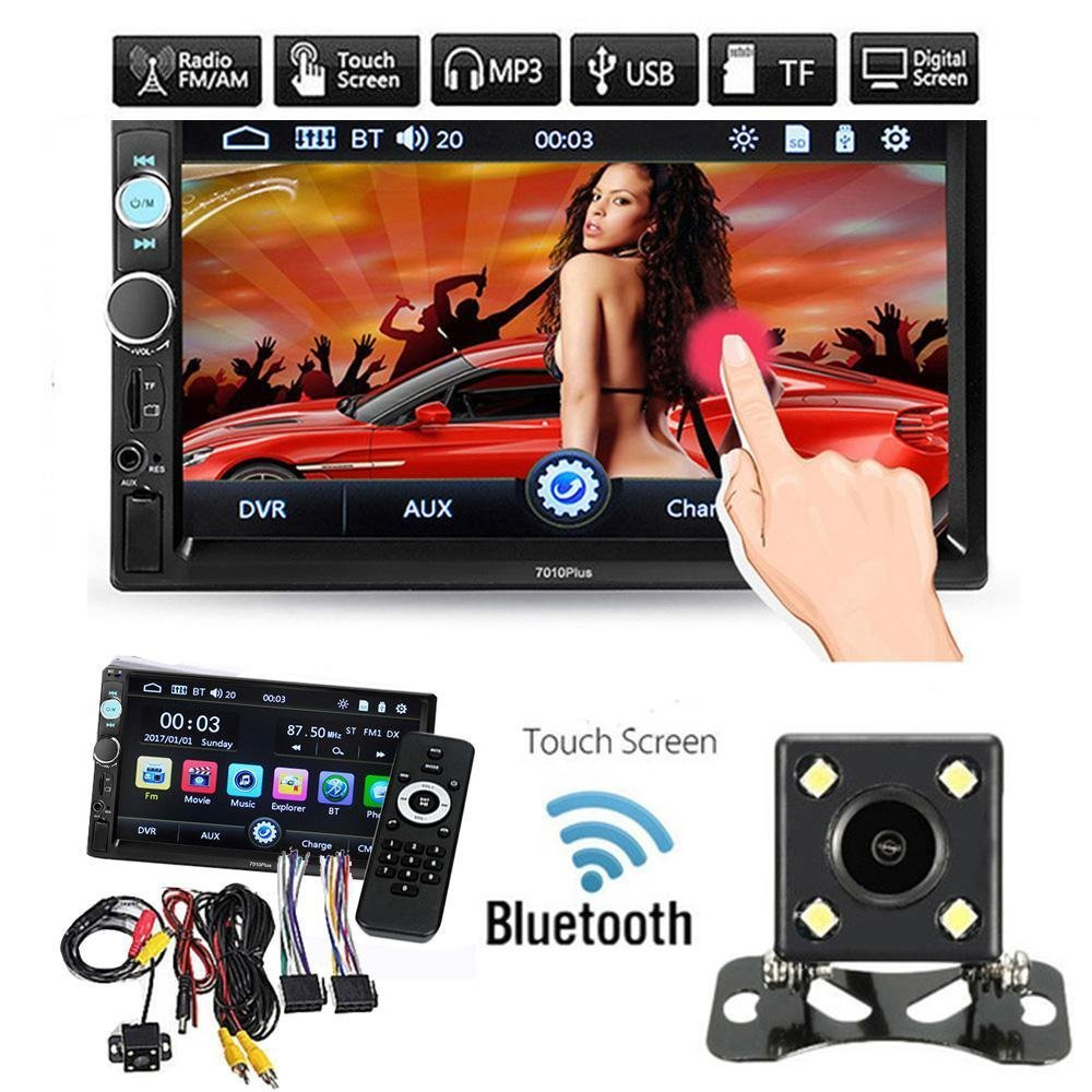 Teepao Universal 7'' Double 2DIN Car MP5 Player GPS Bluetooth Touch Screen DVD Stereo FM Radio Mp3 MP5/TF/USB/AUX/Rear View Camera + Remote Control
