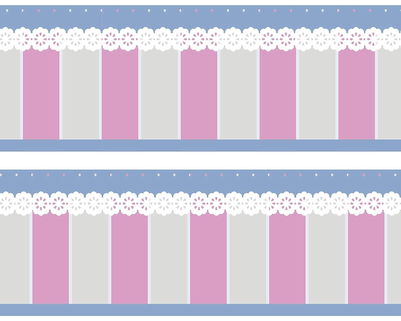 rosa Kleisterbord/üre Baking Time Wandbord/üre Tapetenbord/üre 4-teilig 520x15cm Wanddeko,romanik Borte