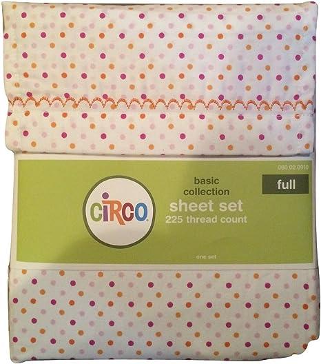Circo FULL Polka Dots Sheet Set Sheets Basic Collection Purple Pink Orange