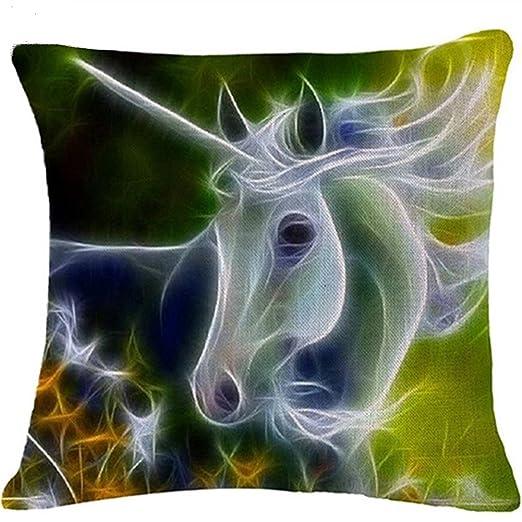 academyus Watercolor caballo sofá cojín, Fashion Funda de ...