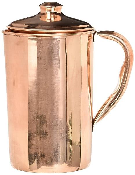 Amazon.com: Cobre puro jarra de agua | Jarra de cobre para ...