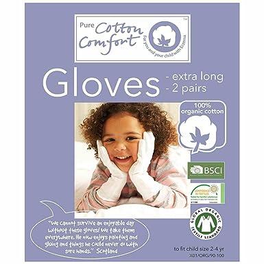 100 Organic Cotton Eczema Gloves X 2 Pair Pack Child 2 4 Years