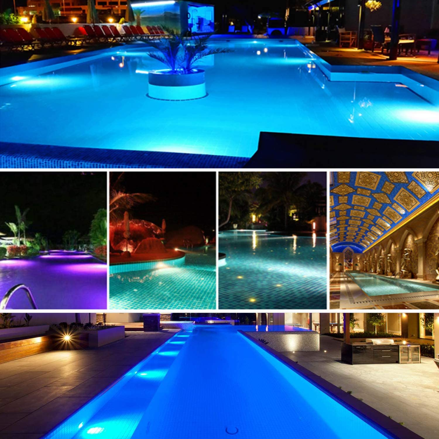 Roleadro Luz Led Para Piscina Impermeable Ip68 47 W Rgb Luces De Piscina Multicolor No Incluye Blanca 12 V Ac Dc Led Inground Pool Control De Luz Con Mando A Distancia