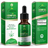 Hemp Oil for Pain Relief, 500mg Hemp Extract, Anxiety Relief, Lower Cholesterol, Boost Immune System, All Natural Supplement, Rich in Fatty Acid Omega 3 and Omega 6, 1 Fl oz. (30ml), by Essencios