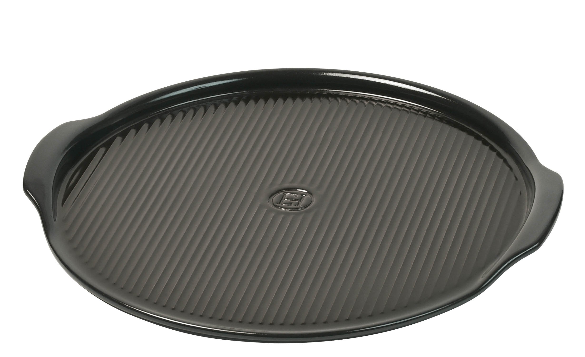Emile Henry Made In France Flame Pizza Stone, 14.6 x 14.6'', Charcoal