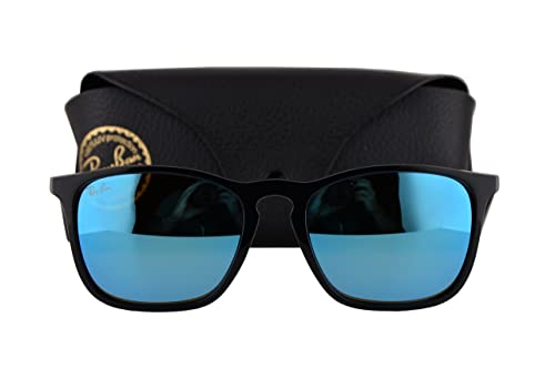 e0329a20316 Ray Ban RB4187 Chris Sunglasses Black w Light Green Mirror Blue Lens 60155 RB  4187  Amazon.ca  Jewelry
