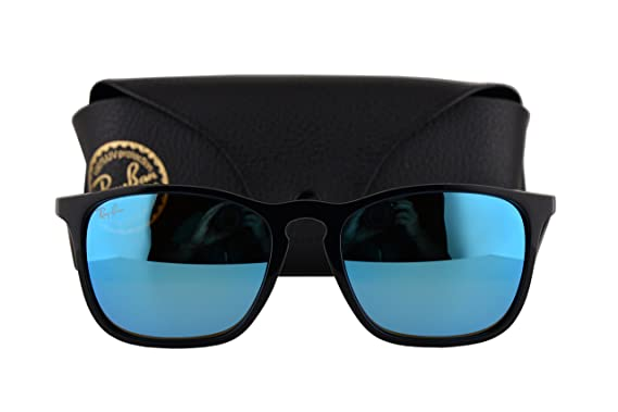 Amazon.com: Ray Ban RB4187 Chris anteojos de sol Negro w/luz ...