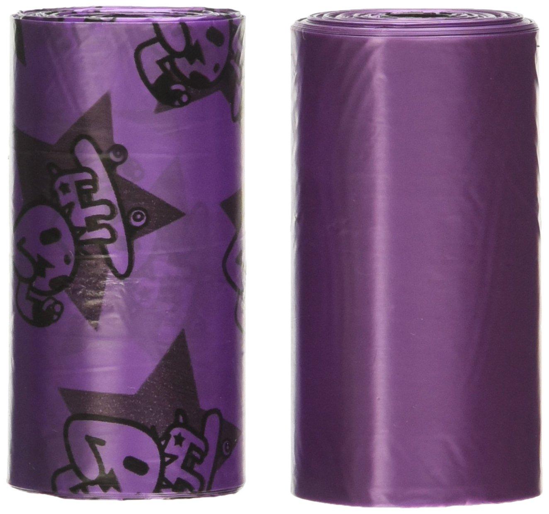 NANDOG Pet Gear Doki Toki Waste Bag Replacements (16 Pack), Purple