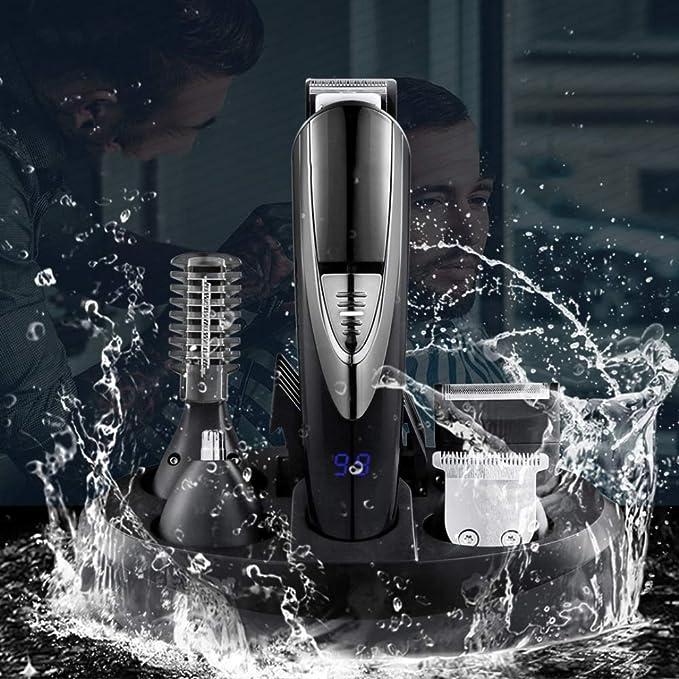 Amazon.com: RHX 5-in-1 Multi-Function Electric Clipper Body wash Electric Hair Clipper Corner Eyebrow Eyebrow Suit with Electric Hair Clipper, Dual Shaver, ...