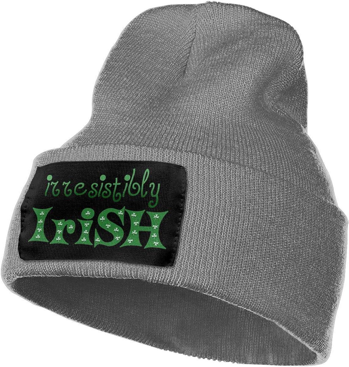 QZqDQ Irresistibly Irish Ts Unisex Fashion Knitted Hat Luxury Hip-Hop Cap