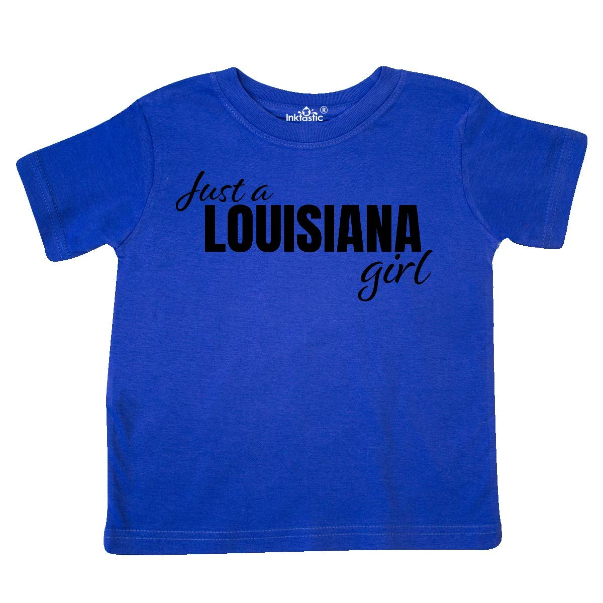 inktastic Just a Louisiana Girl Born and Raised Toddler T-Shirt