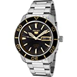 Seiko Men's 5' Japanese Automatic Stainless Steel Casual Watch, Color:Silver-Toned (Model: SNZH57)