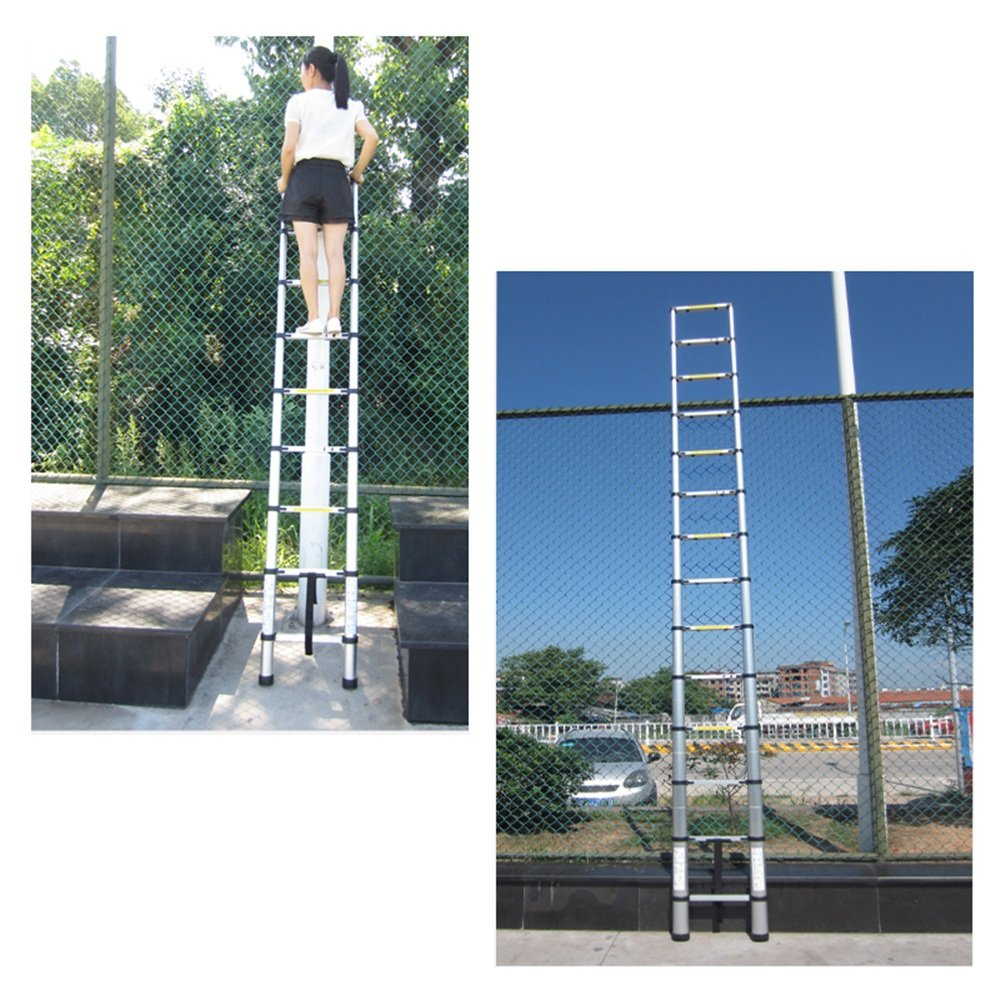 11 Pelda/ños Capacidad de Carga de 150 kg SAILUN Escalera Telesc/ópica Extensible de Aluminio de alta Calidad Dise/ño Telesc/ópico Multiprop/ósito 3,2 m Escalera de Colocaci/ón de 81 cm a 3,20 m
