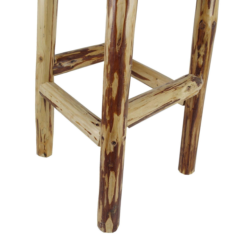 Barhocker Holz Barstuhl Tresenhocker Bistrohocker Ø30xH80cm Holzhocker Hocker
