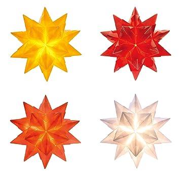 Bascetta Stern Set 75x75cm 4x 32 Blatt Weiß Gelb Rot Orange Transparentpapier 115gm²