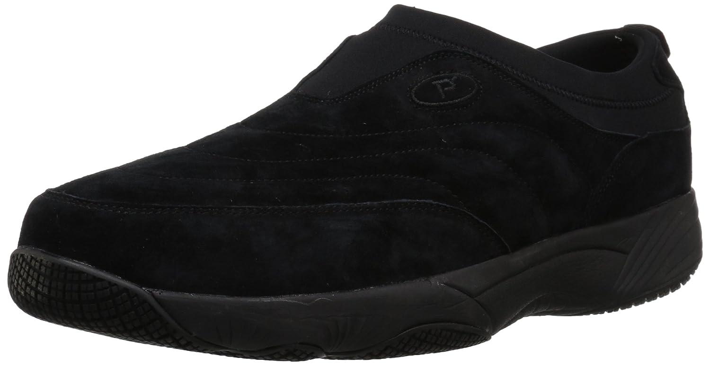 Propét Men's Wash N Wear Slip on Suede 15 5E US|Sr Black Suede