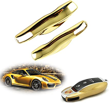 Yellow Remote Smart Key Shell Holder Cover Porsche Cayenne Panamera Macan 911