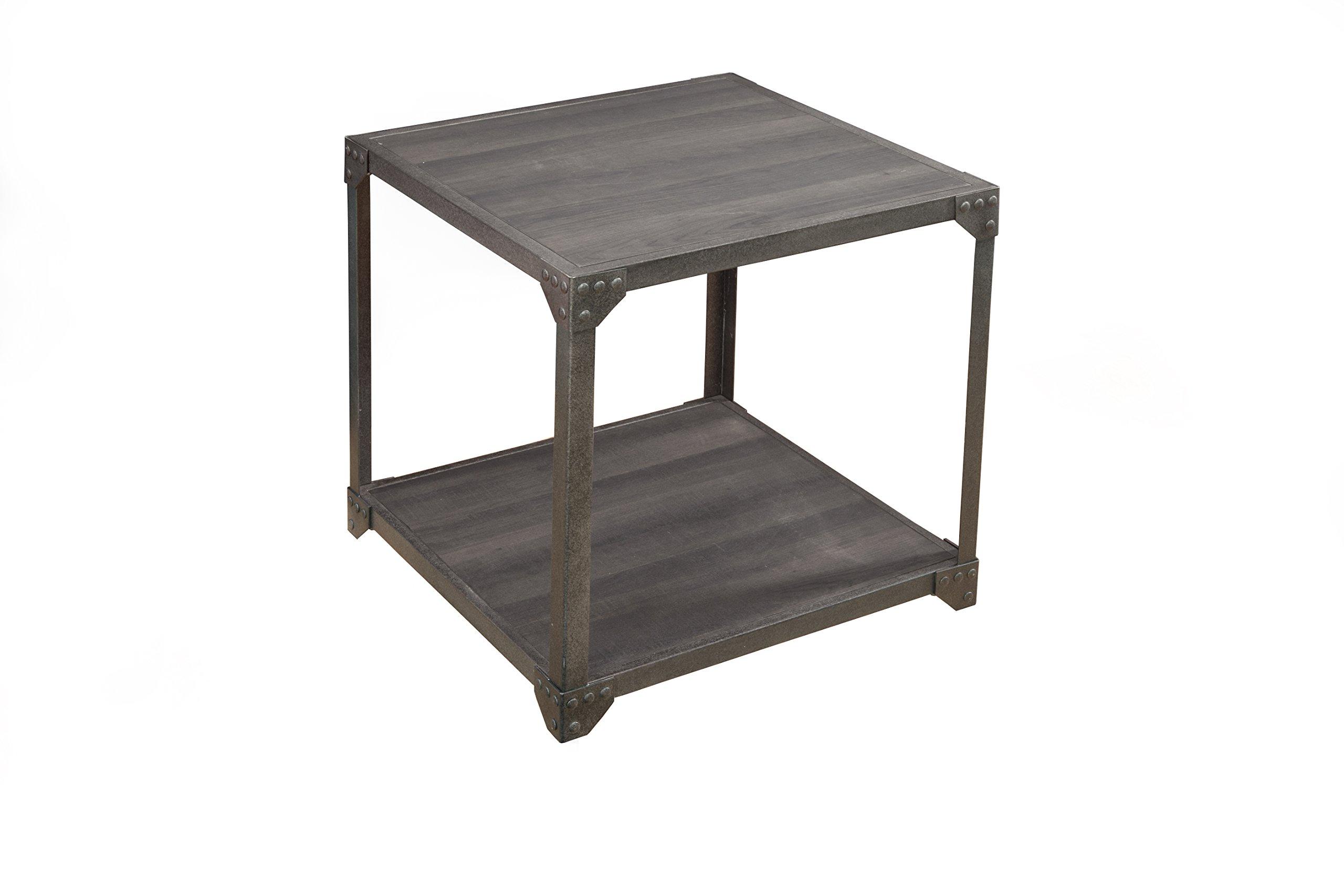 Martin Svensson Home 860131 Arts District Loft End Table, Charred Oak