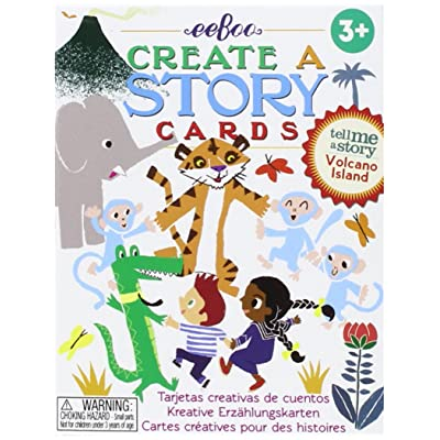 eeBoo Create a Story (Tell Me a Story) Volcano Island: Toys & Games