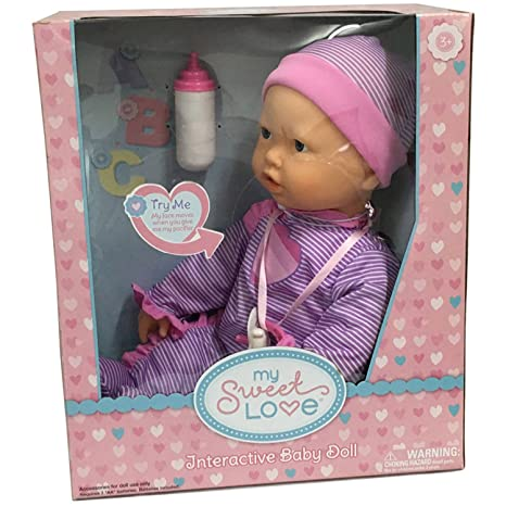 Amazon Com Interactive Baby Doll Makes Breathing Sounds Sucks On