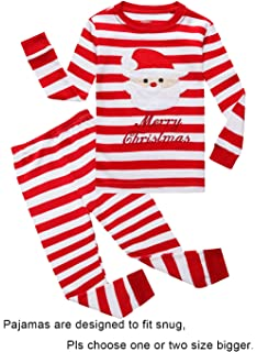 0e35ad6e44 Amazon.com  Girls Christmas Pajamas Children PJs Gift Set Kids ...