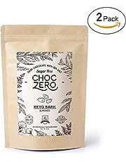 ChocZero's Keto Bark, Dark Chocolate Almonds with Sea Salt. Sugar Free, Low Carb. No Sugar Alcohols, No Artificial Sweeteners, All Natural, Non-GMO (2 bags, 6 servings/each)