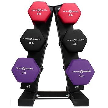 Amazon.com: Estante para mancuernas de acero de Fitness ...