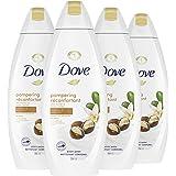 Dove Body Wash Shea Butter & Warm Vanilla moisturizing body wash to hydrate and maintain healthy skin 354 ml 4 Count