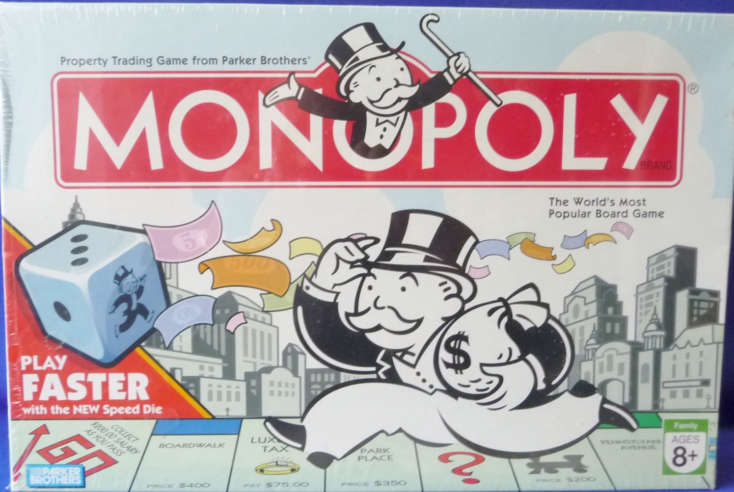 Amazon com monopoly 2007 with faster play speed die board game toys games