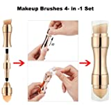 Makeup Brushes 4 in 1 Retractable Set, Foundation