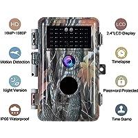 BlazeVideo Cámara de Caza 16MP 1080P IP66 Impermeable