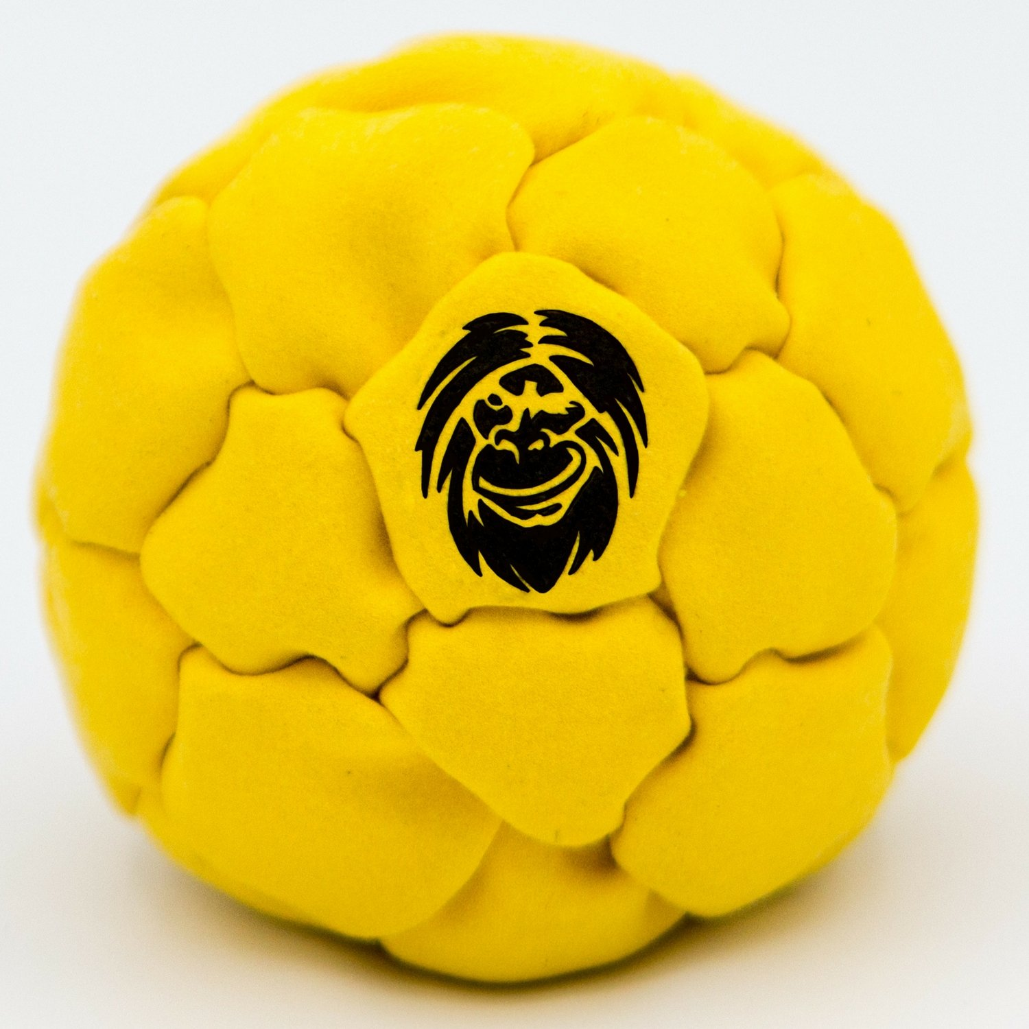 Best Hacky Sack and Footbag | No-Bust Stitching for Hard Kicking | 32 Panel Symmetry for Balance Tricks and Stalling | Professionally Hand-Stitched with Suede Material (Yellow, Plastic/Metal Fill)